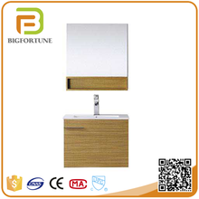 China manufacturer modern yellow waterproof professional MDF bathroom mirror cabinet