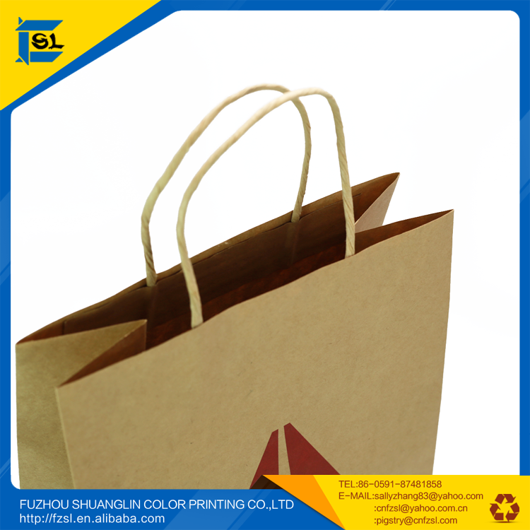 SLK-08 hot sale recycle kraft paper bags
