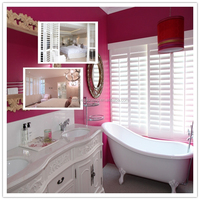 "2.5"" aluminums core louver foam solid PVC window shutters"