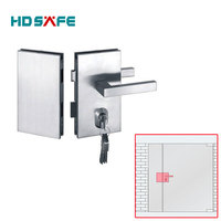 Stainless Steel hotel used glass security door lock