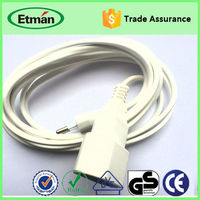 High quality flat electrical power extension cord with ce