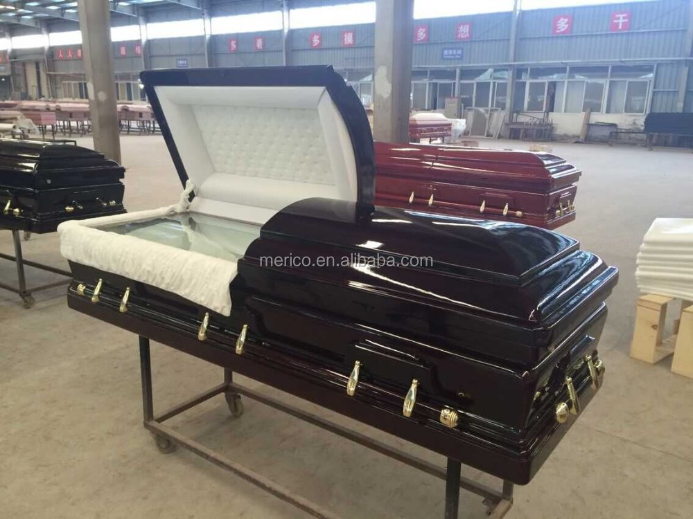 Senator mahogany color with fiberglass casket coffin liners