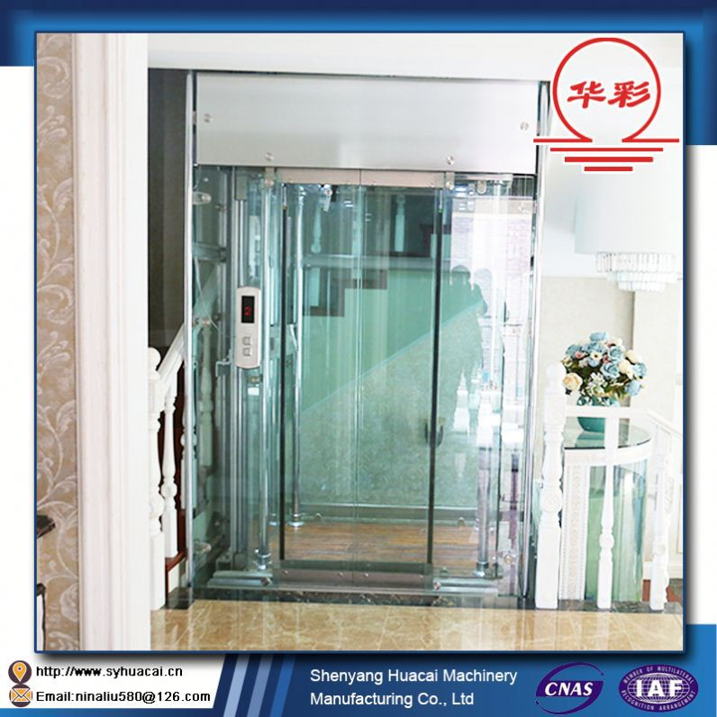 HC-320 2016 Hot sale SGS customized flexible home residential hydraulic passenger lifting elevator