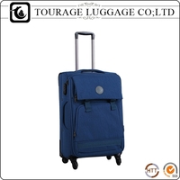 Black Character Fiber Trolley Suitcase Travel