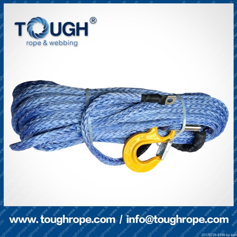 alternative to steel cable synthetic winch rope/line nylon / PE /UHMWPE