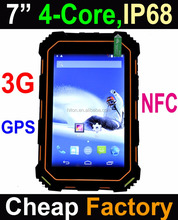 2017 Stock Cheapest IP68 Rugged Tablet pc , 7 inch android calling tablet phone , 7'' 3G GPS NFC Quad-core rugged tablet pc