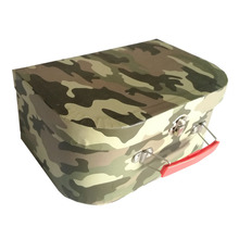 Handmade Camouflage Print Cardboard Paper Suitcase