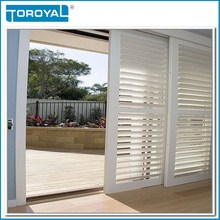 varieties color sliding PVC window shutters and doors and aluminium interior security plantation shutters for sale