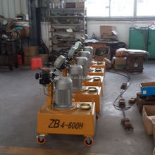 Highway construction tensioning tool hydraulic oil pump for prestressing jack
