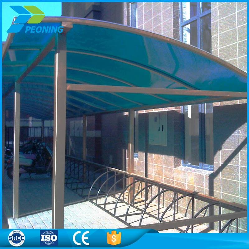 Impact resistance and heat insulation multiwall used solar carports for sale