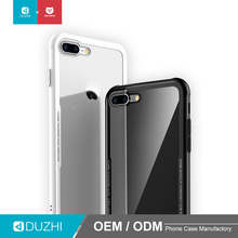 DUZHI 360 phone case for iphone 7 / 8 plus frosted TPU bumper cover clear tempered glass case for apple iPhone7plus/8plus