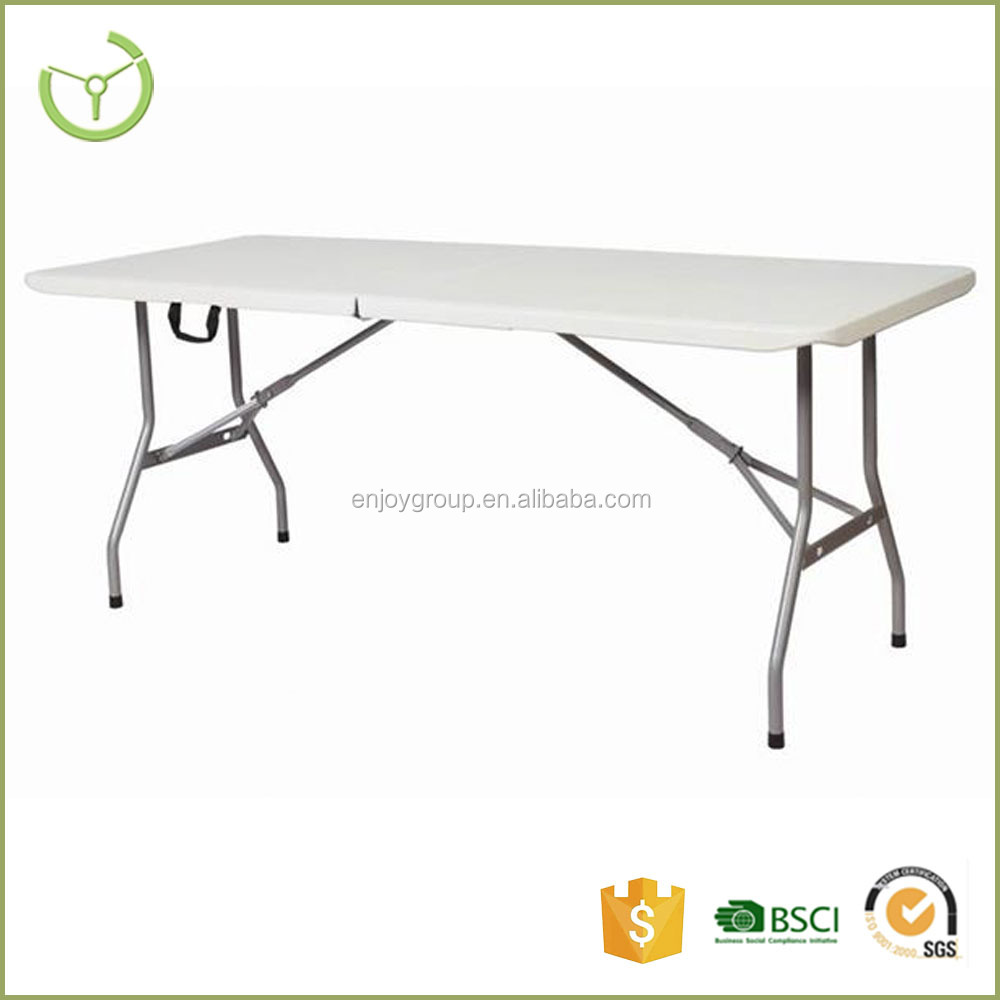 Promotional Style Cheap HDPE table top 6ft plastic folding table