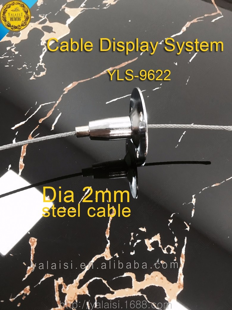 Heavy duty Ceiling/Wall mount kit hardware for Modern Cable Wine System for shops, offices , restaurants, banks, exhibitions