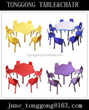 Cheap Used Kindergarten Classroom Furniture/ multiple function plastic table and chair for kids