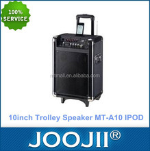 10inch Portable Trolley Speaker with Ipod Docking /7Band EQ function