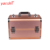 Yaeshii 2018 hot selling gold aluminum travel makeup train case for women