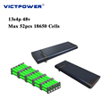 Lithium battery 48v 13.6ah 13s4p 652.8wh electric battery pack victpower