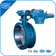 Cast Steel Carbon WCB WCC Stainless 304 316 316L 304L Flanged Electric Drive Single Eccentric Butterfly Valve