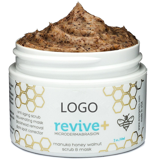 Private Label Natural Honey And Walnut Skin Care Face Mask And Face Scrub