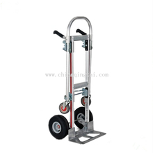 Aluminium telescoping folding muti-function hand trolley