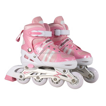new style high quality PVC 4 wheels Adjustable roller skates, colorful inline skate XMBT-8501
