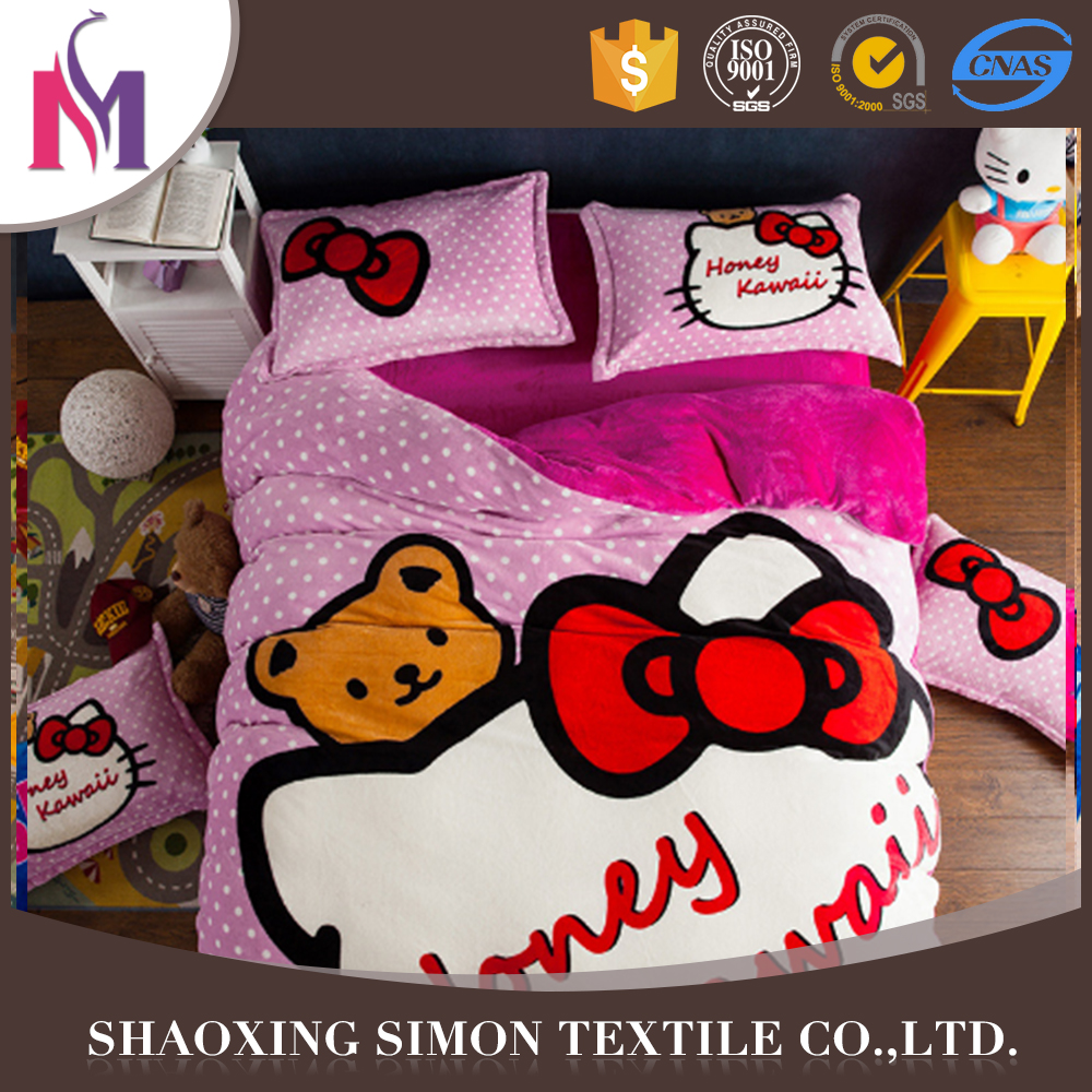 China Factory polyester microfiber set point 3pc bedding sets