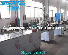 Automatic small canning machine of aluminum tin plastic cans for fruit juice canning factory