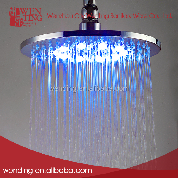 Wenting Fast delivery ceiling color change round led shower head light