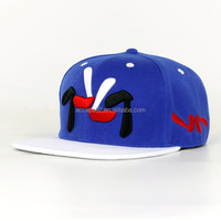 Cheap custom letters embroidery flat brim snapback baseball cap