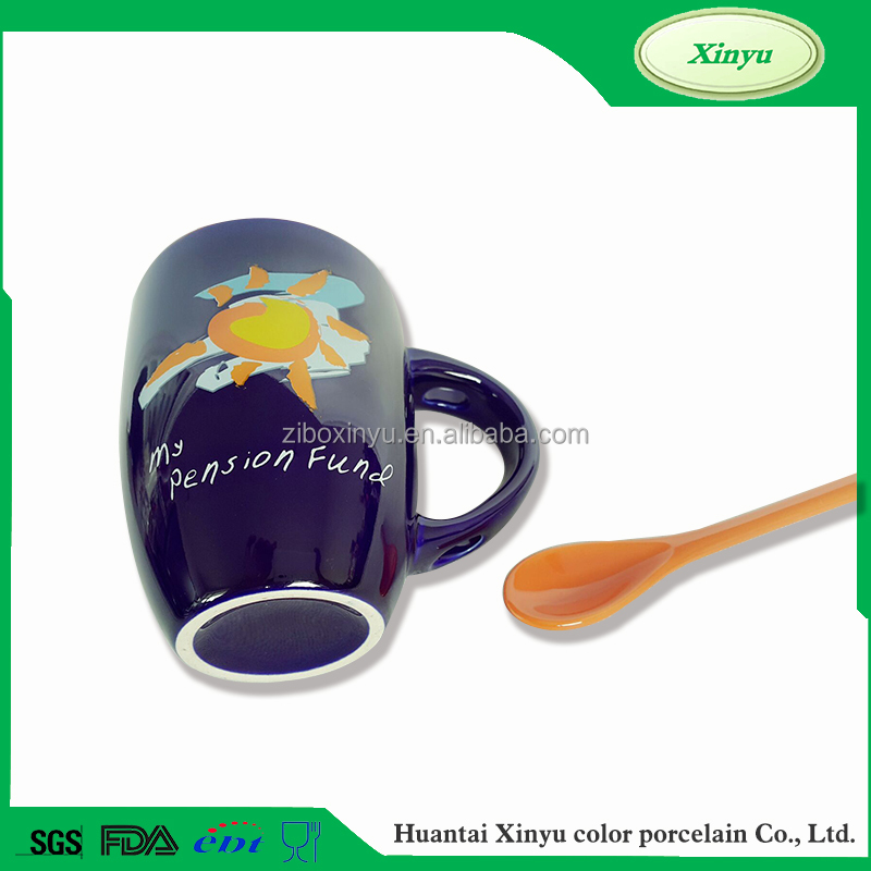 Accept custom order Eco-friendly coffee mug with spoon