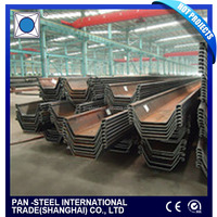 Professional cold rolled u profile type steel sheet pile made in China