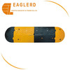rubber speed hump safety protective yellow and black