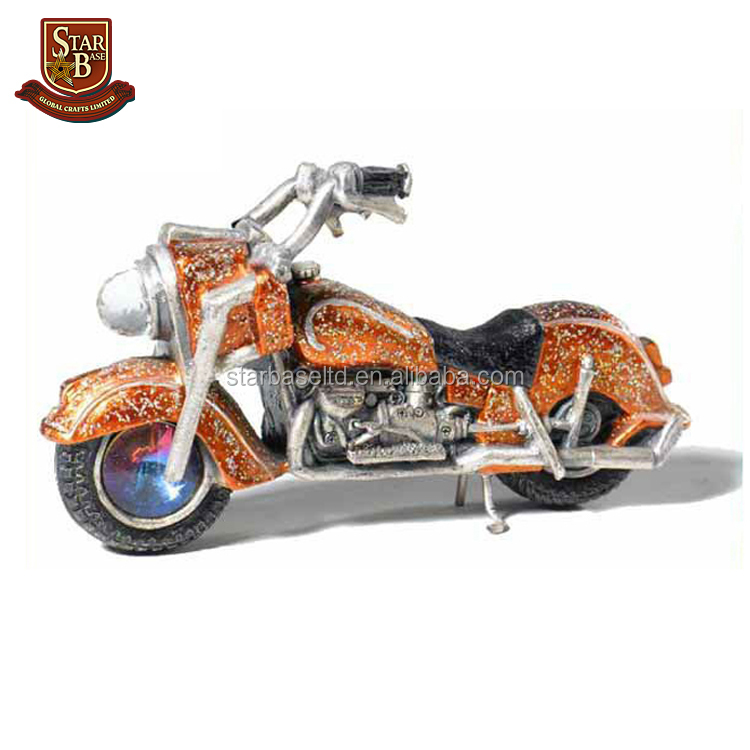 Custom made wholesales decorative pewter motorcycle model