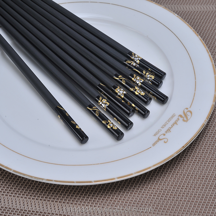 2017 new fashion Guaranteed quality plastic Black chopsticks with logo