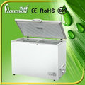 High quality absorption lpg gas 3 way home appliance gas chest deep freezers with two compartments