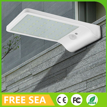 Ultra Thin Wall Mount Outdoor Lighting Motion Sensor Solar Light For Garden