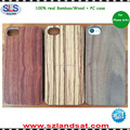 2016 New real wood pc case for iphone 6 7 plus case wood oak case buy IPC337H