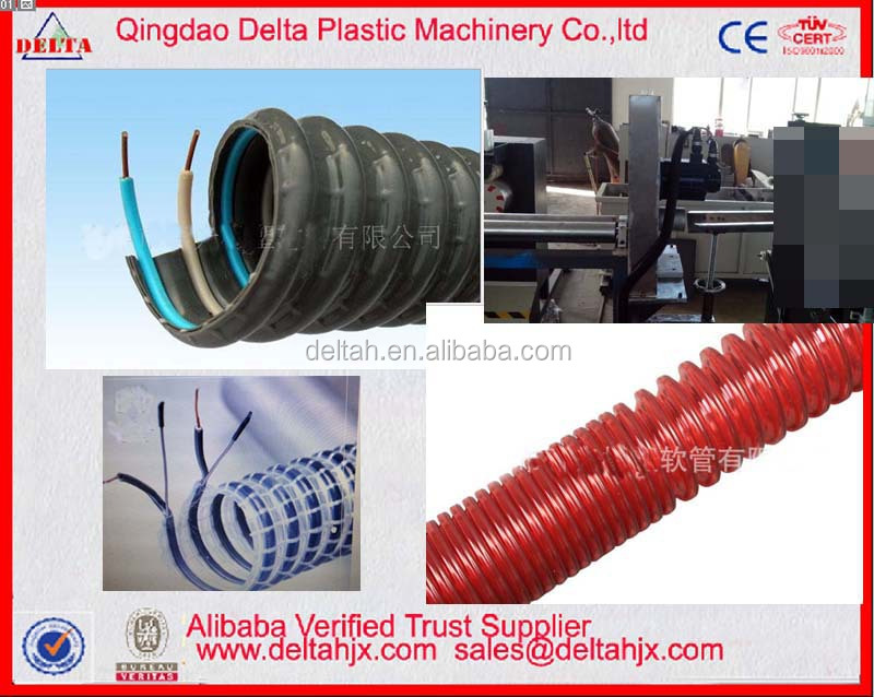 Machine to make Twin wires spiraled suction soft pipe hose