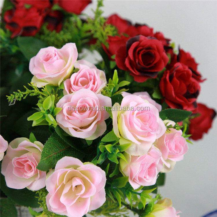 10pc 11 Heads Artificial Rose <strong>Flower</strong>