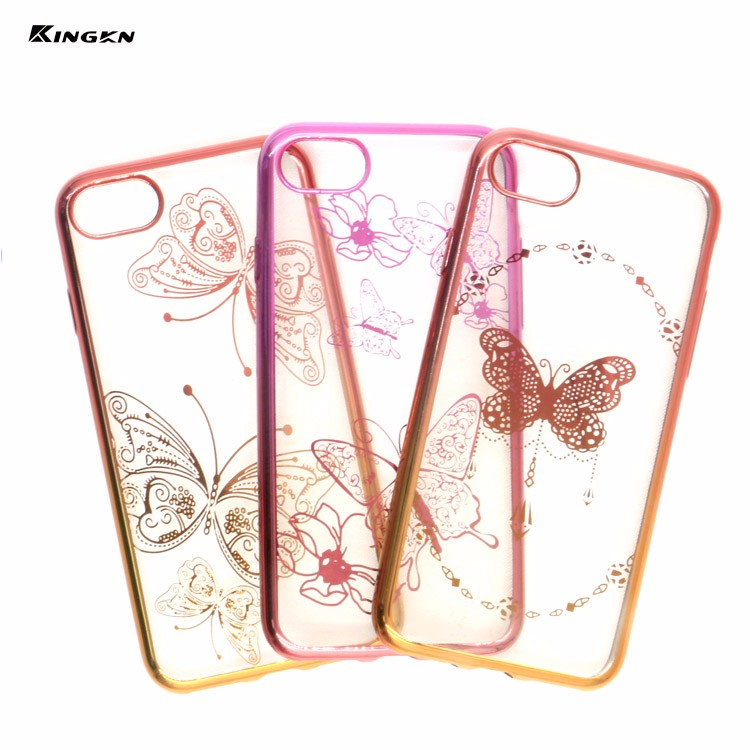 Double color gradual change Electroplate tpu phone case for iphone 7