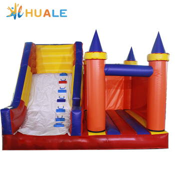 Giant inflatable bouncy castle with slide for kid /inflatable combo for sale