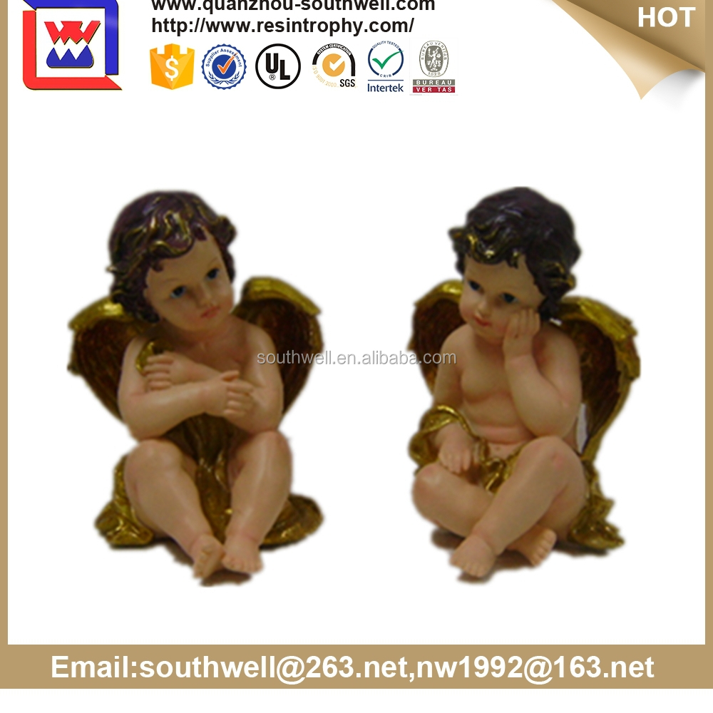 2015 New Arrival Angel Figurine, Angel Statue, Polyresin Angel Items for Garden Decor