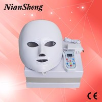 Portable home use 7 colors PDT LED light facial mask