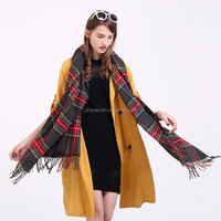 XYWJB Wholesale Tartan Plaid Scarf For