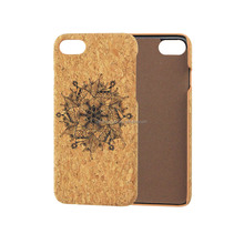 Printing Cork Wood Leather Phone Case Cover for iPhone 6 Superior Flannel Anti-scratch Mobile Accessories