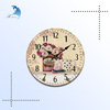 Classical retro clock custom design wooden digital wall clock