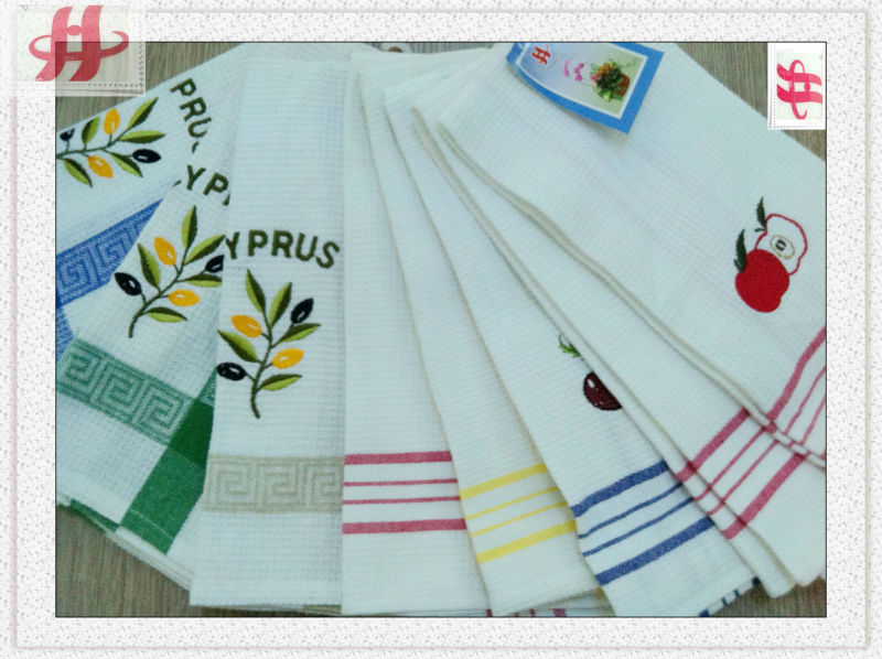 quality embroidery flour sack dish cloth wholesale