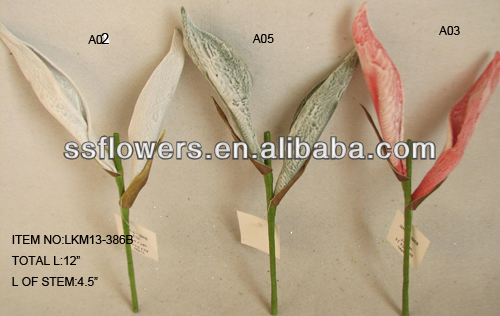 "2014 Very Cheap Artificial EVA Flowers 12"" Artificial Grass Succulent Stem Flower"