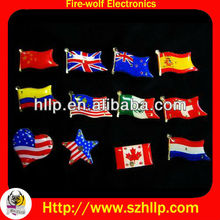 Buy 3.8 cm flashing flag pin,LED tinplate for promotional gifts