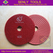 "4"" Assorted Diamond Flexible Polishing Pads Wet Grinding Disc for Marble Stone"